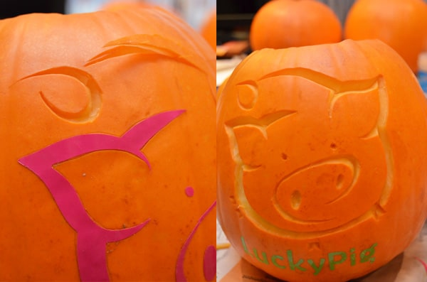LuckyPig's Pumpkin, carving