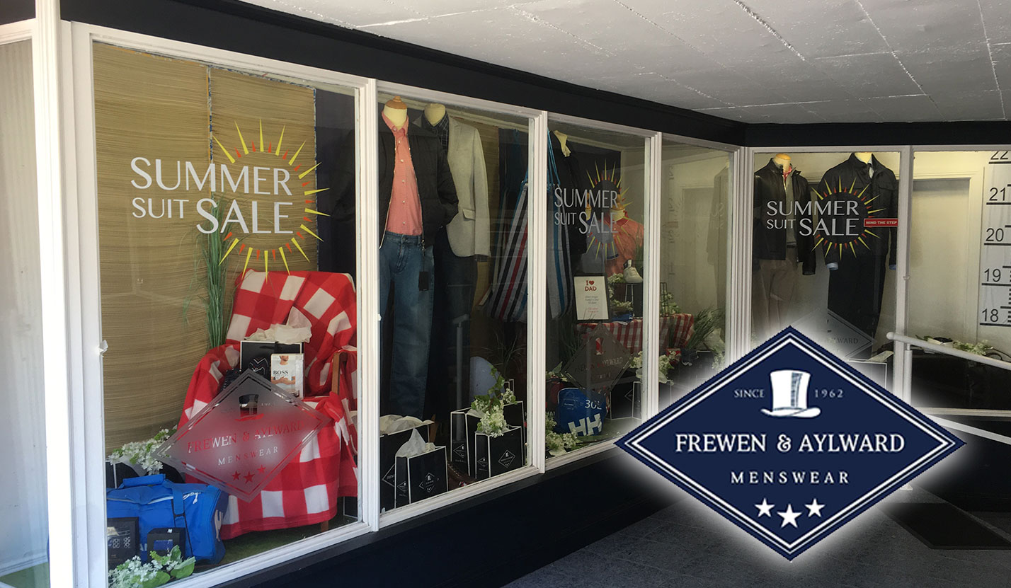 Frewen Menswear - Graphic Design, Vinyl Stickers, Shop Window Design