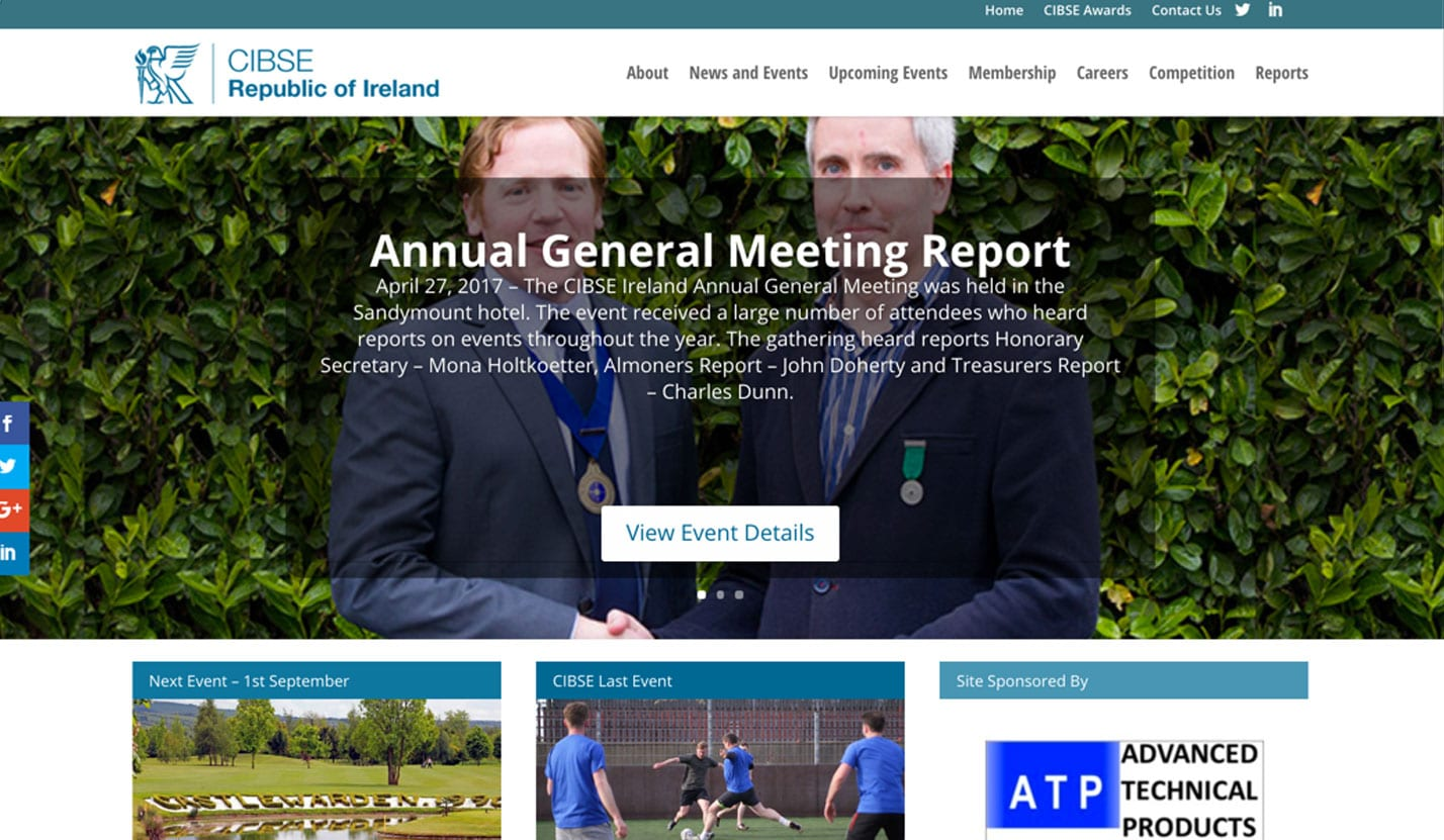 CIBSE Ireland - Website Design & Web Development