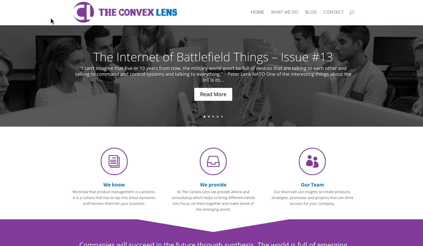 The Convex Lens - Website Design & Web Development
