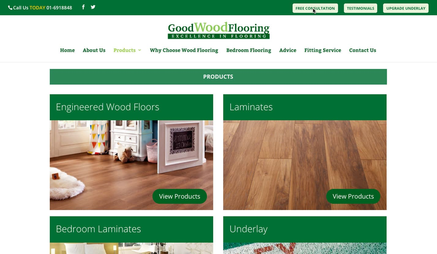 Good Wood Floors - Website Design & Web Development