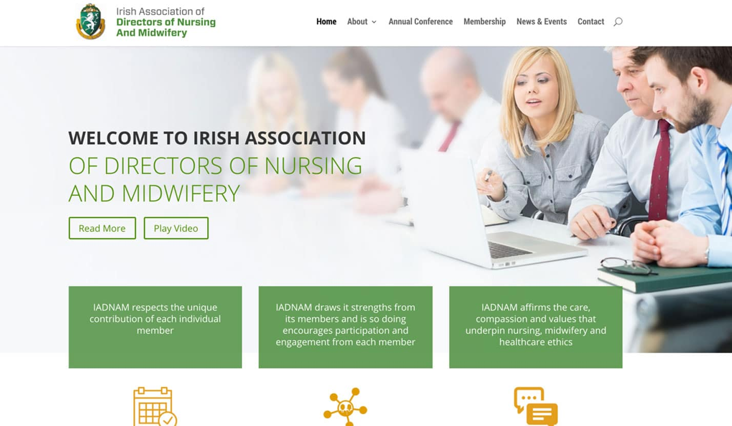 IRISH ASSOCIATION OF DIRECTORS OF NURSING AND MIDWIFERY - Website Design & Web Development