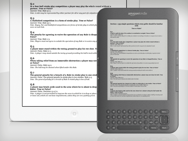 PDF (iPad) & MOBI (Kindle) eBook layout & design