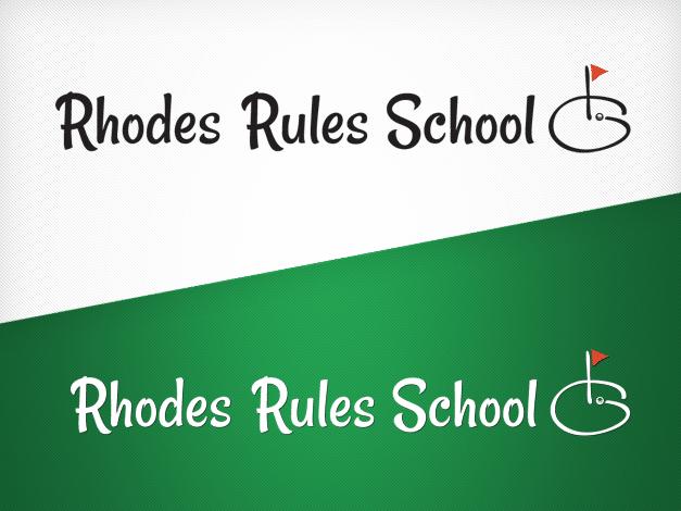 rhodesrulesschool-logo-design